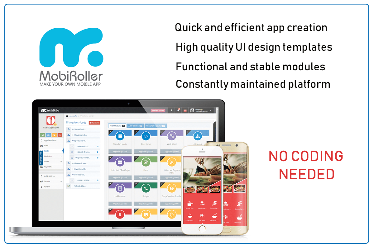 create your app with mobiroller
